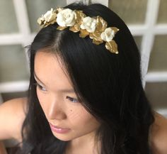 The Emelia Headpiece is a stunning crown of everlasting flowers. Each bloom is carefully handmade for the most stunning detail. Customized Gifts, Jewelry Design, Bloom, Headpieces, Flowers, Gold, Beautiful, Fashion, Moda