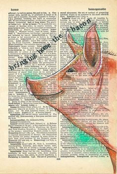 Home : Rhian Wyn Harrison Bringing home the bacon Old Book Art, Old Books, Dictionary Art, Printed Pages, Book Crafts, Art Journals, Journaling, Bacon, Weird