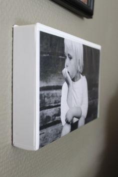 """VHS case photo frame with """"hidden"""" storage."""
