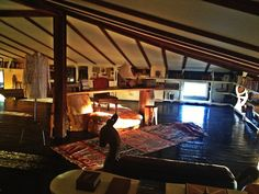 Writer Elizabeth Gilbert's attic writing room. This is a wonderful article - a must-read for all creatives.