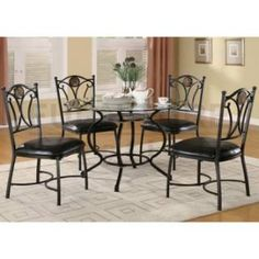 Check out the Coaster Furniture 150501 Altamonte 5 Pieces Dining Set in Black priced at $381.70 at Homeclick.com.