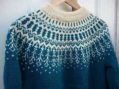 0611-1 Pullover by Olaug Kleppe for Sandnes Garn I heart-heart-heart this pullover. And I want to knit it someday. Someday soon. But it's written and charted entirely in Norwegian. So, figuring, I...