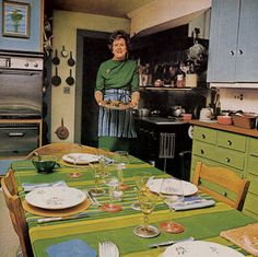 Julia Child in 1970 in her kitchen-which is IN the Smithsonian...now you know what I'll visit first when I get there!