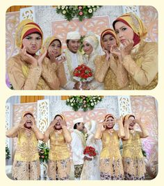 My party wedding with bridesmaid #java #modern