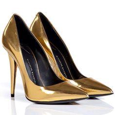 Giuseppe Zanotti      [ Must Have scarpin in Gold ]