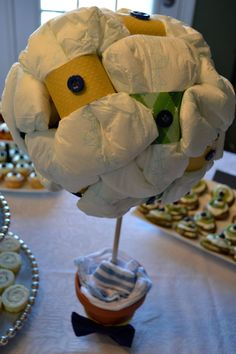A new kind of diaper cake! Baby Shower Bow Tie