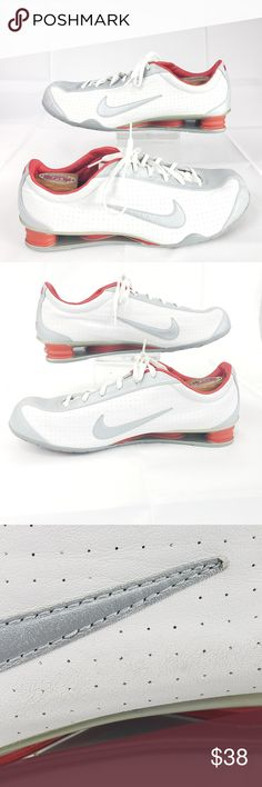 best service 3f420 a3779 Men s Nike Shox Rival White Silver Premium Sneaker Men s Nike Shox Rival  White Silver