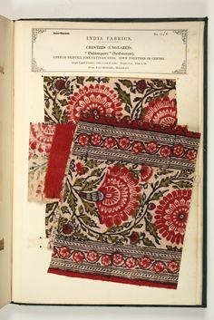 the textile manufactures of india is an18 volume set of fabric sample books put together in 1866 by john forbes watson and published by the india office of the british Ggovernment - No. 476: Chintzes