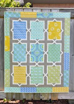 quilt pattern for large scale fabric - Bing Images