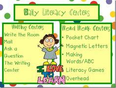 literacy center management idea