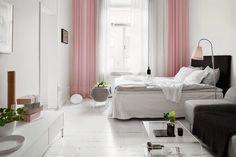 decoración color rosa - dormitorio