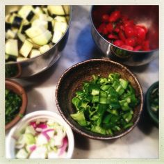 """Mise en place means """"everything in its place."""" It's a great way to cook and a great way to get other people to help you with the task @ http://themuddykitchen.com/"""