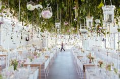 Flowers at Cavalli Estate by Flowers in the Foyer Hanging Flower Arrangements, Hanging Flowers, Foyer, Getting Married, Table Decorations, Weddings, Inspiration, Beautiful, Affair