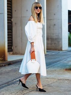 13 White Dresses That Are Too Good to Save for the Beach via @WhoWhatWearUK