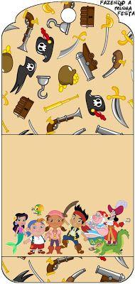 Tarjeter�a de Jake y los piratas de Nunca Jam�s.