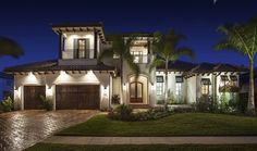 Two-Story 5-Bedroom Palatial Traditional Home with a Wide Balcony (Floor Plan) - Home Stratosphere Florida House Plans, Coastal House Plans, Florida Home, Coastal Homes, Florida Style, Aberdeen, Modern Prairie Home, Balcony Flooring, Traditional Staircase