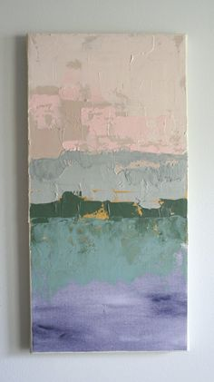 Spring Scene // 10 x 20 // Original Acrylic Abstract by Brenna Giessen, $95.00