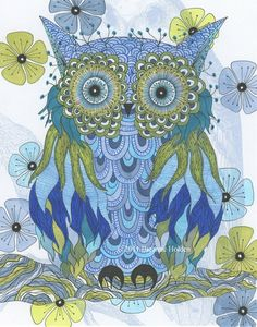 owl art. i love owls for some reason