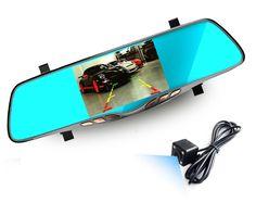 "62.99$  Buy here - http://alicxi.shopchina.info/go.php?t=32744549222 - ""5"""" inch car camera rearview mirror auto dvrs cars dvr dual lens recorder video registrator dash cam full hd1080p night vision"" 62.99$ #SHOPPING"