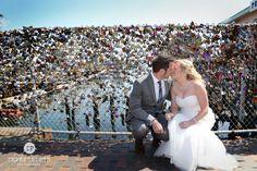 A love lock at this Portland, Maine wedding
