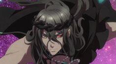 anime heterochromia / odd eyes yellow red (Hades Aidoneus Kamigami no Asobi)