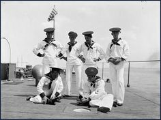 Crew of the USS Nahant with their two cats, ca. 1898 | Community Post: 35 Vintage Cats At Sea