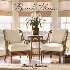 Beach House Loose Back Beachcomber Chair with Exposed Rattan Accents by Tommy Bahama Home.