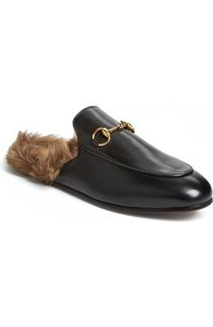 Free shipping and returns on Gucci Princetown Loafer Mule (Women) at Nordstrom.com. Signature goldtone horsebit hardware hearkens back to Gucci's heritage on a classic loafer updated in a sleek, slip-on mule silhouette.