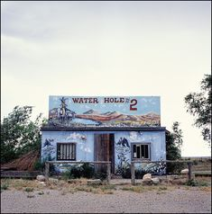 Water Hole #2 is an abandoned bar on old Route 66 in Texola, Oklahoma