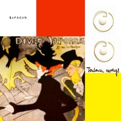 pendientes de oro Toulouse  |  Toulouse gold earrings http://www.lepagon.com/index.php