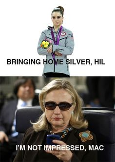 mckayla is not impressed. Maybe I missed the Hilary reference the first time?