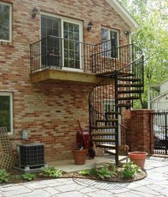 Spiral staircase with great design architectural idea