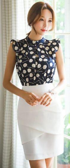 @roressclothes clothing ideas #women fashion white skirt