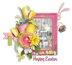 """""""Have a Happy Easter!!!"""" by shortyluv718 ❤ liked on Polyvore featuring art"""