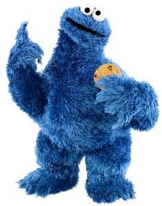 Cookie Monster   Remember that blue coat mom got you and I said you looked like the cookie monster and we laughed so hard