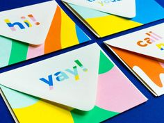 Funny Thinking of You Card Call Me Notevelope The Note is on Business Cards Layout, Card Patterns, Letterpress Printing, Blank Cards, Wedding Stationery, I Card, Your Cards, Colorful Branding, Thinking Of You