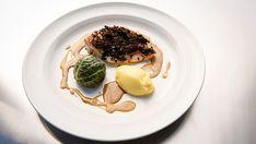 French Pheasant, Mashed Potato and Cabbage - Masterchef AU Season 11 Blue Potatoes, Creamy Mashed Potatoes, Porcini Mushrooms, Stuffed Mushrooms, Stuffed Peppers, Truffle Mushroom, Mushroom Stock, Masterchef Australia, Brown Cups