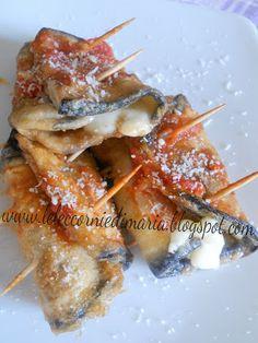 INVOLTINI DI MELANZANE un sapore irresistibile, che sia fritta al forno, alla griglia è sempre un piacere mangiare le melanzane. In questa ricetta l' ho voluta accostare a del prosciutto cotto e della scamorza.