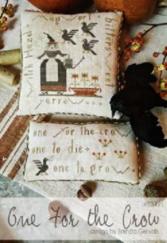 One For The Crow is the title of this cross stitch pattern from With Thy Needle and Thread that is stitched with Weeks Dye Works