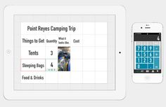 Grid Spreadsheet app that is fun to use.  Reviewed on Apartment Therapy  #iphoneapp  #ipadapp  #apartmenttherapy