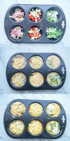Hartige Muffins (leuk en lekker voor op de Paastafel) Savory Muffins (fun and tasty for the Easter t Tapas, Healthy Snacks, Healthy Recipes, Snack Recipes, Cooking Recipes, Savory Muffins, Snacks Für Party, High Tea, Food Videos