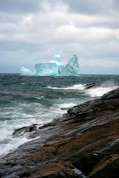 View of an Iceberg off the coast of Newfoundland and Labrador. Newfoundland and Labrador form the most easterly province of Canada. Pvt Canada, Canada Eh, Newfoundland Canada, Newfoundland And Labrador, Newfoundland Icebergs, Nova Scotia, Gros Morne, Parc National, Canada Travel