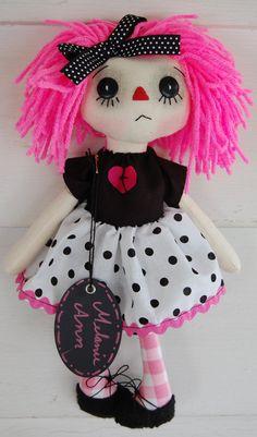 Melanie Ann  Primitive Folk Art Raggedy Doll by OCRPrimitiveArts, $45.00