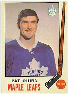 Pat Quinn, Maple Leafs Hockey, Hockey Pictures, Hockey Rules, Good Old Times, Vancouver Canucks, Hockey Cards, Sports Figures, National Hockey League