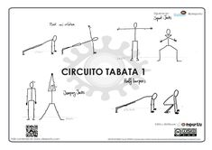 Circuito Tabata 1  Circuito Tabata (plank and rotation, squat jack, jumping…