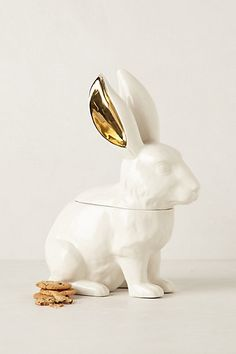 White Rabbit Cookie Jar #anthropologie