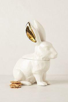 Bunny cookie jar