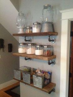 Estanterías con tuberías llega la decoración industrial a las cocinas 5                                                                                                                                                                                 Más