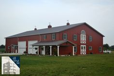 Pole barn house. 1/4 living space. 3/4 shop.