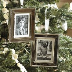 "A gift they'll cherish season after season. Our Frame 2013 Ornament holds a 2 x 3 photo and comes engraved with the year ""2013,"" so it will become an instant family heirloom."